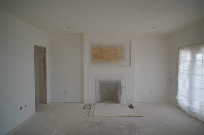 Custom home sarasota drywall fireplace