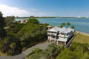 Rendering of bay front home on Siesta Key