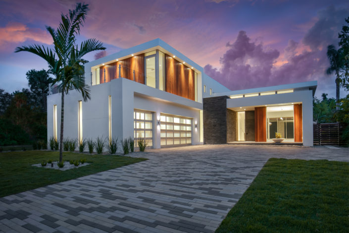 Modern Home Facade Luxury Custom Home Builder Sarasota Florida