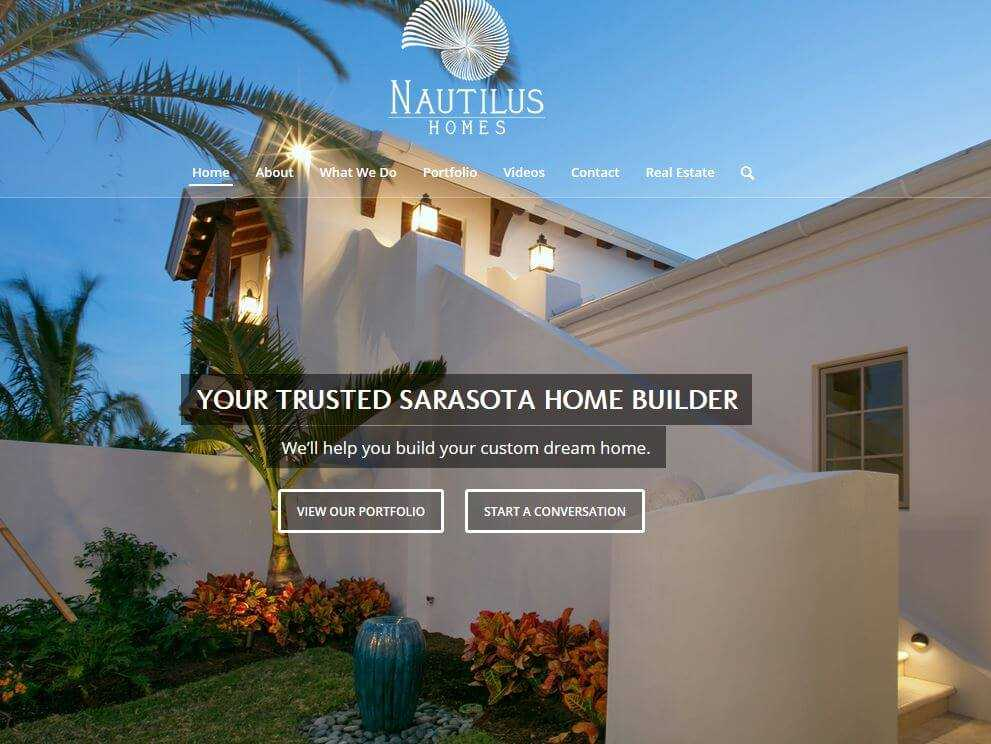 Sarasota Luxury Home Builder Nautilus Homesu0027 New Website
