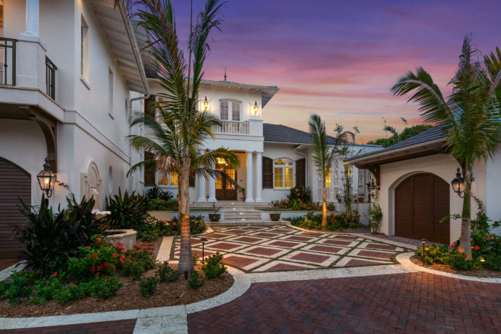 Colonial West Indies Home Lido Key, Sarasota, FL - By Nautilus Homes