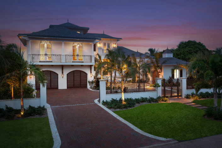 Colonial West Indies Home Lido Key, Sarasota, FL - By Nautilus Homes