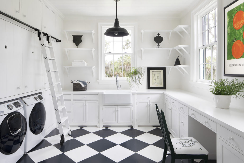 Antebellum Estate Charleston Style Laundry Room