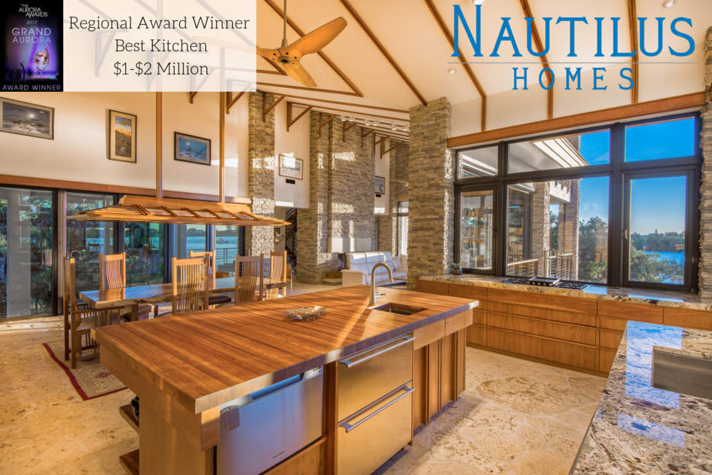 2019 Winner Kitchen Aurora Awards Shifting Shores Nautilus Homes
