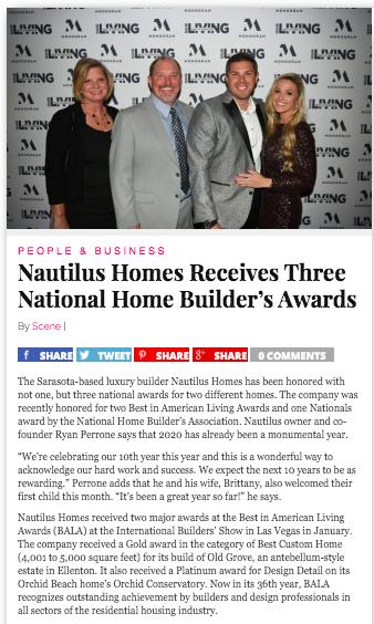 Nautilus Homes Sarasota Best General Contractor