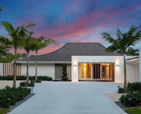Zen Entry of a Florida Mid Century Modern Home